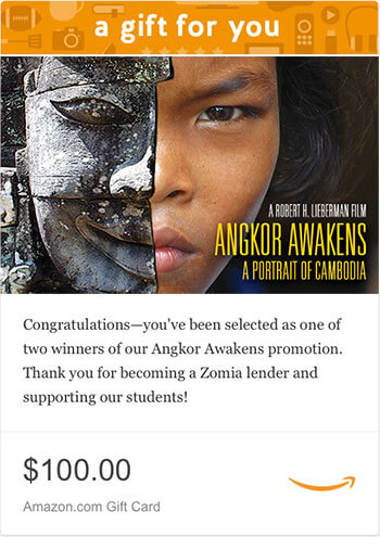 Angkor Awakens gift card winners
