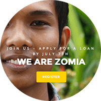 Screenshot of webpage: apply.zomia.org