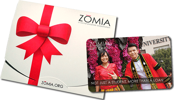 Zomia Gift Card with Presenter