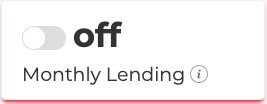 Monthly Lending Off