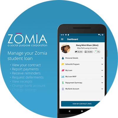 Zomia Mobile App